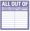 All Out Of: Sticky Notes