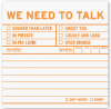 We Need to Talk: Sticky Notes